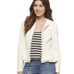 Mossimo Creamy White Peplum Jacket Blazer NWT XL